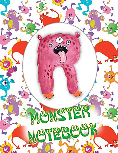 R Monster Notebook: Kids Monogrammed Journal and Doodle Book