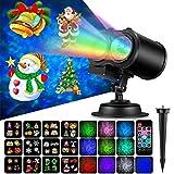 The New Light 2-in-1-Ferienprojektor-Lichter, 12 Dias-Ozean-Wellen-LED Zeigen Scheinwerfer mit Fernsteuerungs-Außen- / Innenlandschaftsgarten-Lichtern für Weihnachtshauptgeburtstagsfeier