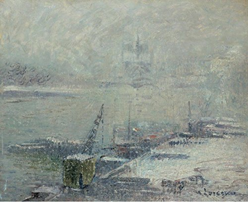 Das Museum Outlet-Notre Dame de Paris, View von Quay von Henri IV, 1920-A3Poster