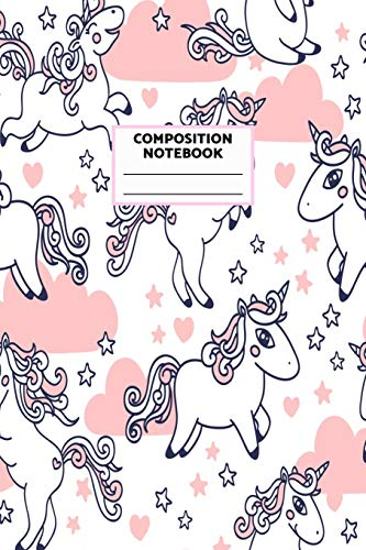 Composition Notebook: Unicorn Journal for Girls, Teen and Women Cute Matte Cover Design with Blank Lined Interior College Ruled (Great as Party Favors, Gifts, Diary, Journal, School Notebook)