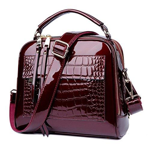 LAIDAYE Frau Freizeit Tragbare Schulter Messenger Bag Kleines Quadrat 3