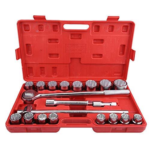 21 Stücke Schraubenschlüsselsatz, 3/4 Zoll Standard Drive Impact Socket Tool Set Schraubenschlüssel Werkzeuge Set Auto Lkw Repair Tools Steckdosen mit Aufbewahrungskoffer
