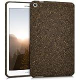 kwmobile Funda de corcho para Huawei MediaPad T1 8.0 Honor T1 - Case Cover funda protectora de corcho en marrón oscuro