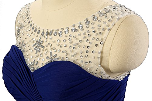 Kmformals Damen Perlen Lang Chiffon Formale Abschlussball Abendkleid Brautjungfer Kleider Lila