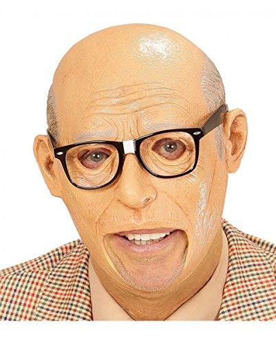 Horror-Shop Alter Mann Opa Maske aus Latex für Großvater Verkleidungen