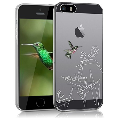 kwmobile Apple iPhone SE / 5 / 5S Hülle - Handyhülle für Apple iPhone SE / 5 / 5S - Handy Case in Pink Weiß Transparent