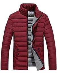 Bealeuy Herren Winter Jacke Sportliche Jacke Wasserabweisend Winddicht Herren Winter Freizeit Reißverschluss Pocket Down Jacken Stehkragen Mantel Outwear Tops