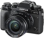 فوجي فيلم X-T2 كاميرا رقمية بدون مراة مع عدسة ، 24.3 ميجابيكسل ،  18-55 مم ، اسود