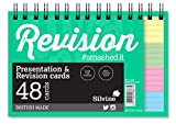 Silvine Wirebound Revision Cards Assorted 6x4 Inch