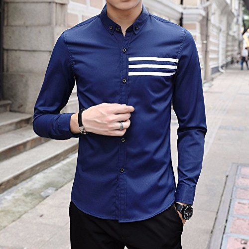 La Camicia _ Slim Fit Tre Nastro Camicia Royal Blue