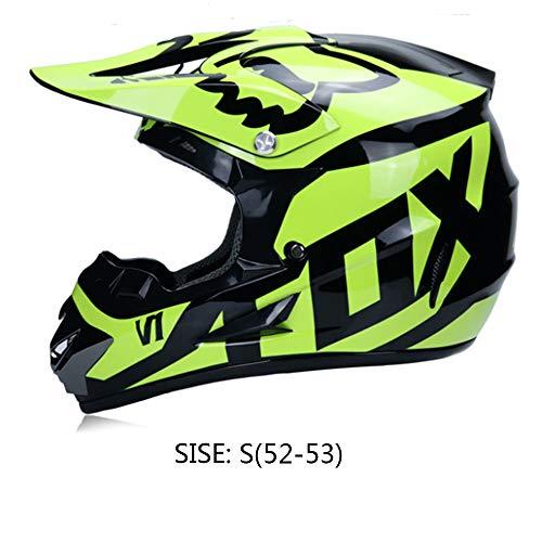HBLWX Off-Road-Helm, Motorrad-Integralhelm, Fahrradbrille, Schutzbrille, Persönlichkeit, Schutzbrille, Komfortable Leichtigkeit Atmungsaktiv für ()
