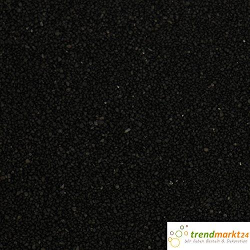 trendmarkt24 Farb-Sand 1000g, Schwarz Deko-Sand für vielseitige Bastelideen tolle Tischdeko/Tischdekoration zum Befüllen von Glasgefäßen Vasen Teelichthalter bunter Sand 275631