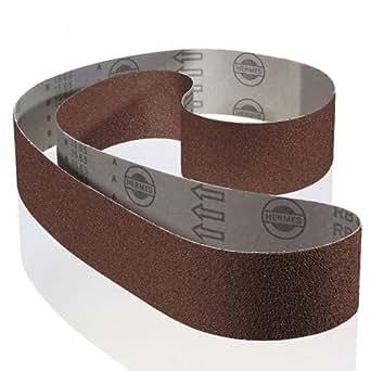 Hermes produits abrasifs RB 377012765TX, 50x 686mm grain de 100, Lot de 5, pour bois et métal
