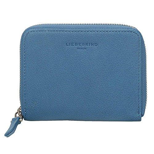 Liebeskind Berlin Damen Connyf8 Core Geldbörse, Blau (Denim Blue), 2x14x10 cm (Leder Reißverschluss Zwei)