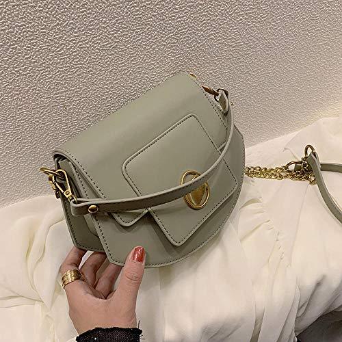 Damen Schultertasche Henkeltasche Handtasche Damentasche Vintage Neue Handkettchen-Umhängetasche, grün