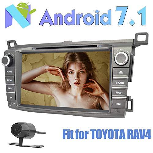R¨¹ckfahrkamera inklusive! EinCar 8''Pure Android 7.1 Nougat Quad-Core-Auto-Stereoradio Kompatibel mit Toyota RAV4 2013-2014 Unterst¨¹tzung GPS Sat Navi DVD CD-Player Bluetooth Autoradio FM AM RDS U Toyota Sat-radio