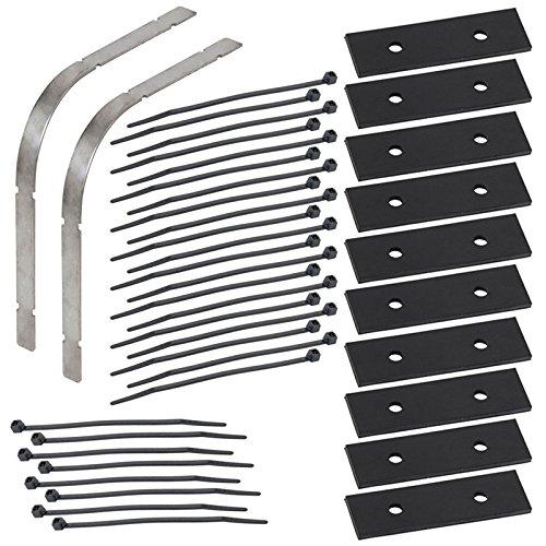 VOSS.eisfrei Kit d'installation pour câbles chauffants: 2x protections des bords+ 10x écarteur + 28x attache-câbles