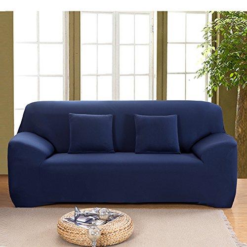 Hotniu Stretch Sofá Fundas de Sofá Reversible 1 pieza Funda para Sofá Home(2 Plazas para 145-185cm,Marino)