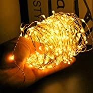 66ft 200 LEDs Waterproof Fairy Copper String Lights with UL588 USB Adapter for Halloween Thanksgiving Christma