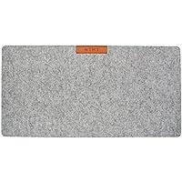 NTMY multifuncional mesa de escritorio de escritorio feltro alfombrilla de ratón perfecto para oficina y hogar, 25,5 * 13 pulgadas (gris claro)