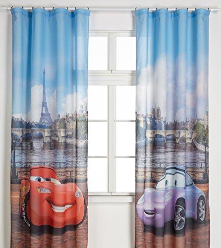 Ag design fcsxxl 7025disney cars, camera dei bambini tenda/tenda, 280x 245cm, 2pezzi (140x 245cm), plastica, multicolore, 0,1x 280x 245cm