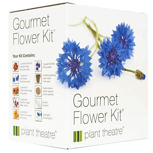 Gourmetblumen-Kit von Plant Theatre - 6 Essbare Blumenarten zum Anbauen ? ein großartiges Geschenk -