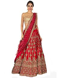 7ddb0183d0d Amazon.in  Reds - Lehenga Cholis   Ethnic Wear  Clothing   Accessories