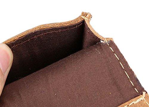 Genda 2Archer Cuero Riñonera Viajar Al aire libre Casual Bum Bag Bolsa (marrón)