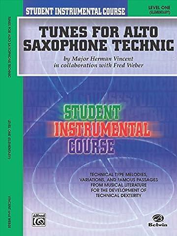 Student Instrumental Course, Tunes for Alto Saxophone Technic, Level I