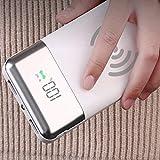 AITECH Ladegerät Wireless Power Bank, tragbares Ladegerät 20000 mAh Externer Akku Dual USB Display Digital LED