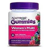 Natrol - Multi Gummies para mujeres 85% Berry, cereza y uva ecológicas - 90Gomitas