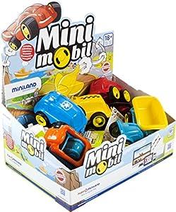 Miniland- Minimobil: Jobs 12 cm (14 Unidades) Vehículos de Juguete para niños. (45130)