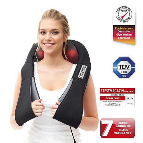 Nackenmassagegerät Das Original Donnerberg® Massagegerät mit Wärmefunktion | für Nacken, Rücken, Schultern | TÜV | 7 Jahre Garantie | Zuhause, Büro, Auto