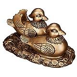 Feng Shui 6pulgadas Par Mandarin patos símbolo de amor y fidelidad casa oficina decoración + libre hecho a mano ajustable suerte rojo cadena pulsera