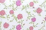 5m Shabby Chic große Rose Sticky Back Kunststoff Fablon Klebefolie Tapete Grid Aufkleber, selbstklebend, PVC