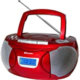 Roadstar rcr-3650ump–Lecteur de CD (LCD, Bleu, externe, FM, PLL, CD Audio, Rouge)