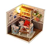 Guesthome DIY Dollhouse Miniature Kit &Toys, 3D Wooden Dolls House Furniture, 1:24 Scale