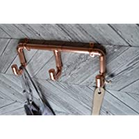 Triple copper coat hook set