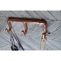 Triple copper coat hook set