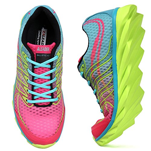 d2dda2ef6486a ALEADER Womens Summer Breathable Walking Trainers Outdoor Running Shoes Gym  Training Red 5.5 UK