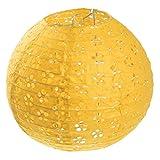 Lampenschirm Lampion Papier laterne Papierlampion Papierlaterne Deko Party - 12 Zoll, Gelb
