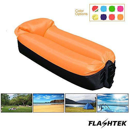 Flashtek tragbares aufblasbares Sofa, wasserdichtes Luft-Sofa Aufblasbare Liege, Luftliege aufblasbare Couch, Luftbett-Strand-Liege ideal für das Reisen, Pool, Strand-Party und kampierende Ausrüstung