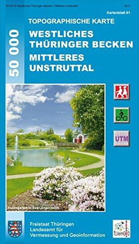 Westliches Thüringer Becken / Mittleres Unstruttal (Topographische Karten Thüringen - Freizeit- und Wanderkarten 1:50000)