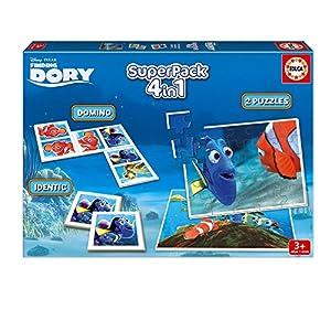 Educa Borrás Buscando a Dory – Superpack con 2 Puzzles, identic memo Game y dominó 16691