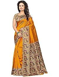 Craftsvilla Women's Art Silk Solid Traditional Yellow Saree With Blouse Piece