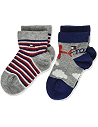 Tommy Hilfiger Th Baby Skywriting Sock, Calcetines para Bebés (Pack de 2)
