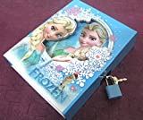 Art box medium size FROJAEN print Box safe diary protected with lock (gift for girls)