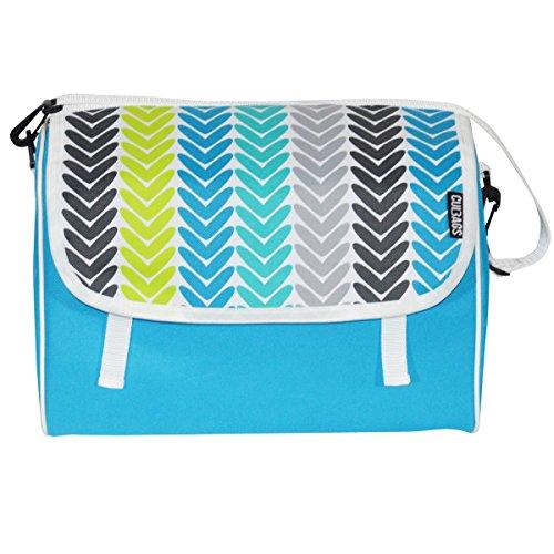 C-BAGS INDYGO single FIR Gepäckträger Fahrradtasche Tasche verschiedene Muster Turquoise