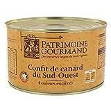 Patrimoine Gourmand - Pato Confit 4 Muslos 1350G - Confit De Canard 4 Cuisses 1350G - Precio Por Unidad - Envío Rápido