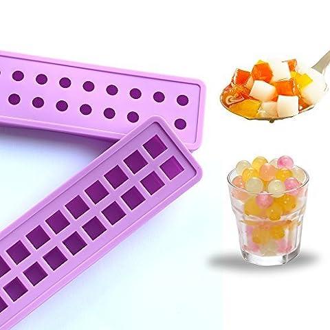 boule de glace glaçons moule plateaux Mini silicone 20 cavités des moules à glace - Mold bricolage pour les enfants avec Candy pouding gelée lait jus moule ou Cocktails et particules de whisky (2)